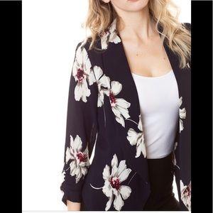 Jackets & Blazers - Navy floral open blazer ( COMING )